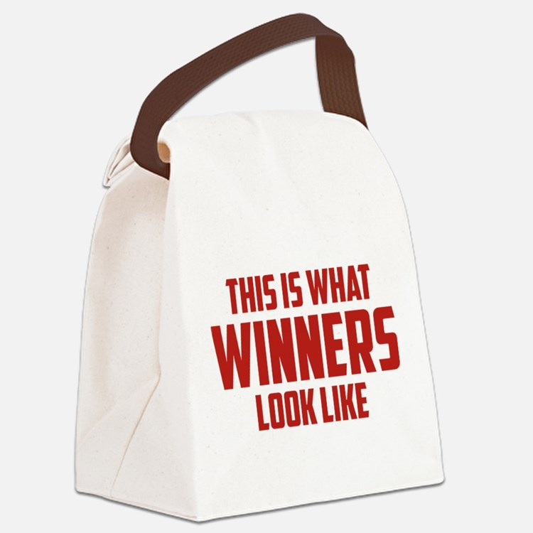 This is what WINNERS look like Canvas Lunch Bag