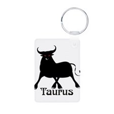 Whimsical Taurus Aluminum Photo Keychain