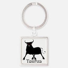 Whimsical Taurus Square Keychain