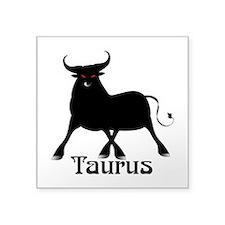 "Whimsical Taurus Square Sticker 3"" x 3"""