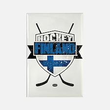 Suomi Finland Hockey Shield Rectangle Magnet