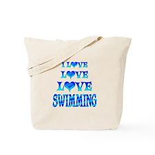 Love Love Swimming Tote Bag