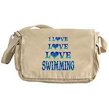 Love Love Swimming Messenger Bag