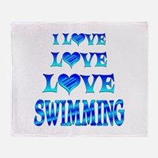 Love Love Swimming Throw Blanket
