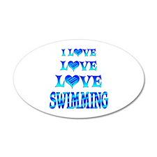 Love Love Swimming Wall Decal