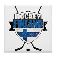 Suomi Finland Hockey Shield Tile Coaster