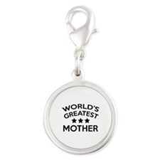 World's Greatest Mother Silver Round Charm