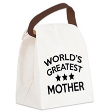World's Greatest Mother Canvas Lunch Bag