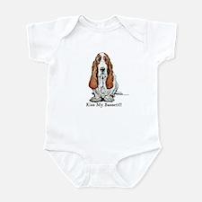 Bassett Hound Kiss Infant Bodysuit