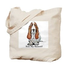 Bassett Hound Kiss Tote Bag