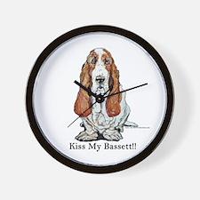 Bassett Hound Kiss Wall Clock