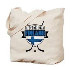 Suomi Finland Hockey Shield Tote Bag