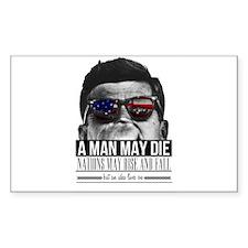 A MAN MAY DIE Decal