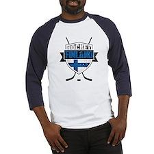 Suomi Finland Hockey Shield Baseball Jersey