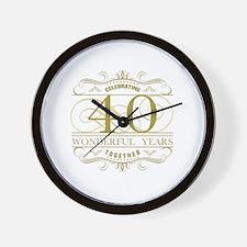 Cute Celebrating 40 years Wall Clock