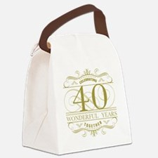 Cute Celebrating 40 years Canvas Lunch Bag