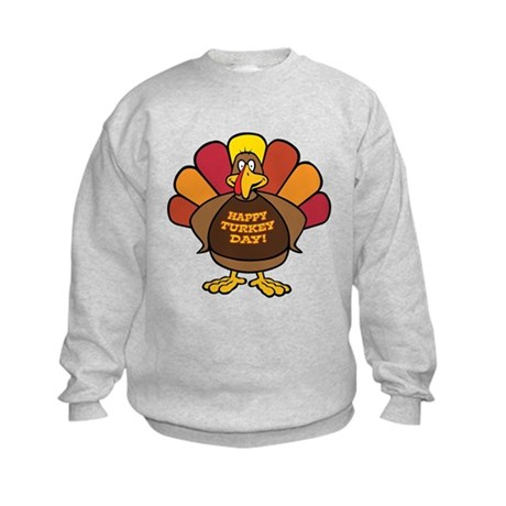 Happy Turkey Day! Kids Sweatshirt