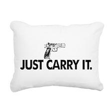 Just Carry It. Rectangular Canvas Pillow