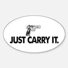 Just Carry It. Sticker (Oval)