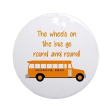 the wheels on the bus Ornament (Round)