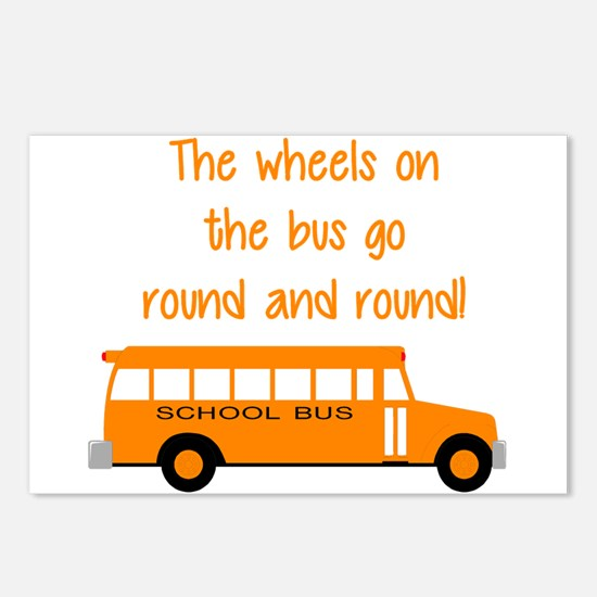 the wheels on the bus Postcards (Package of 8)