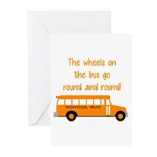 the wheels on the bus Greeting Cards (Pk of 20)