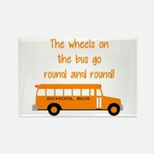 the wheels on the bus Rectangle Magnet
