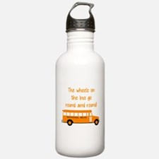 the wheels on the bus Water Bottle