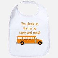 the wheels on the bus Bib