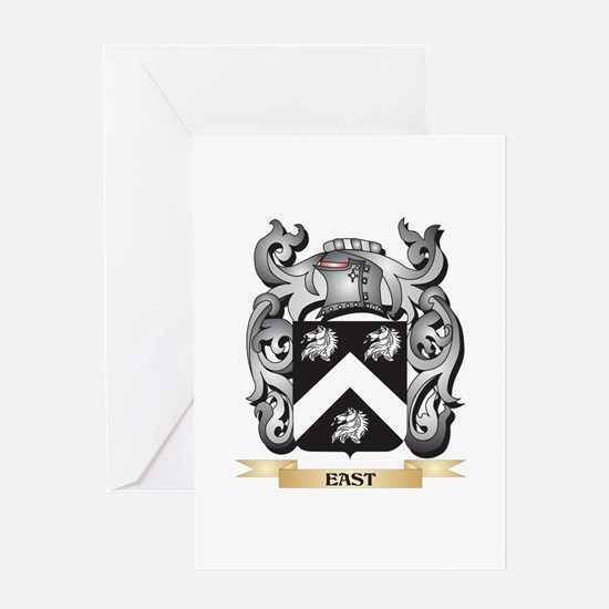 East Coat of Arms - Family Crest Greeting Cards