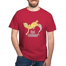 Gecko Got Crickets Cardinal Color (Center) T-Shirt