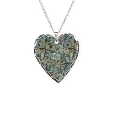 Easy Money Necklace Heart Charm