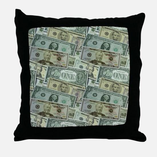 Easy Money Throw Pillow