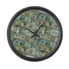 Easy Money Large Wall Clock