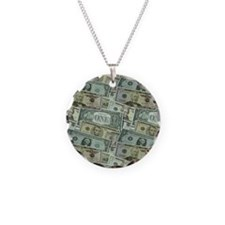Easy Money Necklace Circle Charm