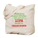 Donate life Canvas Totes