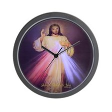 Divine Mercy Gold Wall Clock