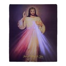 Divine Mercy Gold Throw Blanket