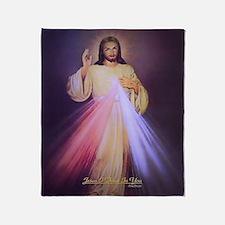 Divine Mercy Gold Throw Blanket