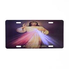 Divine Mercy Gold 2013 Aluminum License Plate