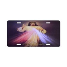 Divine Mercy Gold Aluminum License Plate