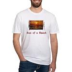Sun of a Beach Fitted T-Shirt