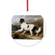 Painting of Newfoundland Landseer Ornament (Round)
