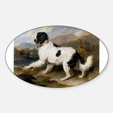 Painting of Newfoundland Landseer Decal