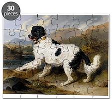 Painting of Newfoundland Landseer Puzzle