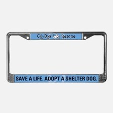 City Dogs Rescue License Plate Frame