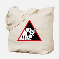 Hill Climb DUDE Danger Signs Tote Bag