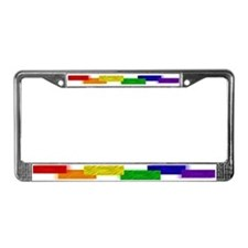Gay Pride Blocks License Plate Frame