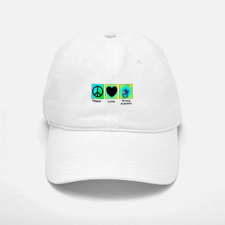 peace love nursing assistants 2 Baseball Baseball Baseball Cap