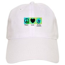 peace love nursing assistants 2 Baseball Baseball Cap